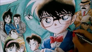 getlinkyoutube.com-Drawing Detective Conan - speed drawing ( Meitantei Conan/Detective Conan/Case Closed)