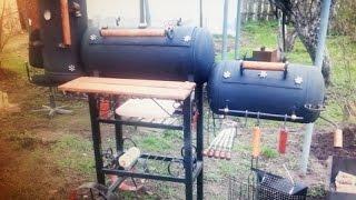 getlinkyoutube.com-Мангал-коптильня-барбекю из газовых баллонов своими руками ЧАСТЬ 2!!!!