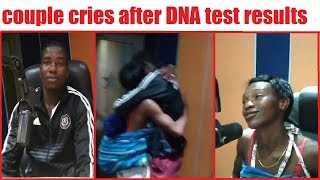 Couple Cries after hearing DNA test results