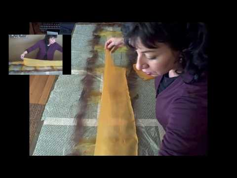 Nuno Felting 2- Laying out & rolling
