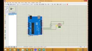 How to simulate stepper motor with arduino in proteus