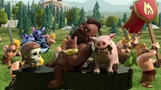 getlinkyoutube.com-Clash of Clans - как атаковать неграми (хогами, свинками) на 8 ТХ