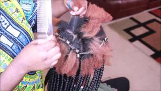 How to Box braids tutorial (Beginner friendly)
