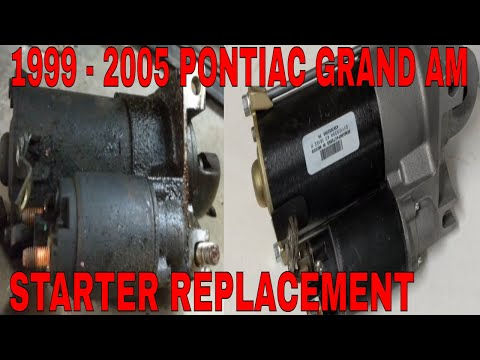 HOW TO REMOVE AND INSTALL A STARTER ON A PONTIAC GRAND AM