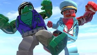 getlinkyoutube.com-LEGO RED HULK TRANSFORMATION VS LEGOHULK - Lego Marvel Super Heroes Game
