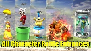 getlinkyoutube.com-All 51 Character Battle Entrances in Super Smash Bros Wii U 1080p 60fps