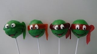 getlinkyoutube.com-ninja turtles cake pops
