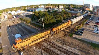 getlinkyoutube.com-The Circus Train from the Skies! (Drone Video)