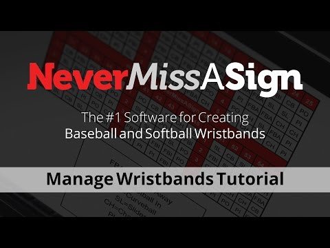 Manage Wristbands using Never Miss A Sign 3.0