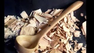 Wooden ladle from start to finish