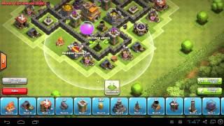 getlinkyoutube.com-Diseño de Aldea Defensiva - Ayuntamiento Lvl 5 - Clash of clans