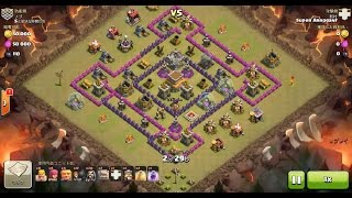 getlinkyoutube.com-Clash of Clans TH8 vs TH8 Golem, Wizard & Witch (GoWiWi) Clan War 3 Star Attack