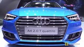 getlinkyoutube.com-2016 Audi A4 2.0T Quattro S-Line - Exterior and Interior Walkaround - 2015 Tokyo Motor Show