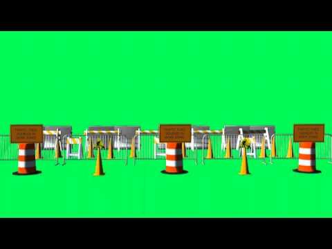free green screen effects - roadblock - animation