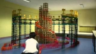 getlinkyoutube.com-HTK#21: Citiblocs construction with huge snail inside circular bridge with dominos