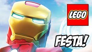getlinkyoutube.com-Lego Marvel Super Heroes - Festa na casa do Homem de Ferro