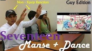 getlinkyoutube.com-Seventeen - Mansae - Non-Kpop Fan Reaction - Guy Edition