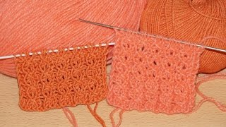 getlinkyoutube.com-Вязание спицами. Ажурный Узор ЗАМОЧЕК  ////   Knitting for beginners. openwork pattern