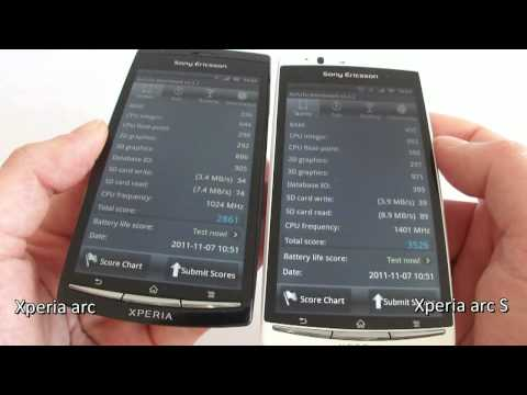 Sony Ericsson Xperia arc S  VERSUS  Sony Ericsson Xperia arc