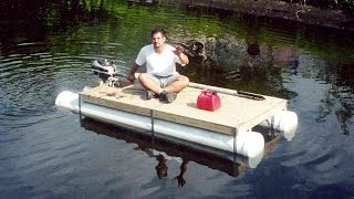 DIY PVC pipe pontoon boat - HomeMade boat - in 1 day
