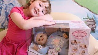 getlinkyoutube.com-Кукла Бэби Аннабель братик с мимикой распаковка и обзор (Zapf Creation Baby Annabell)