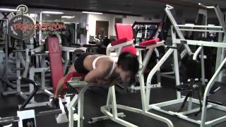 getlinkyoutube.com-2959 for her - w/ trish malagrino female fitness model ripped abs 8 pack way more than 6 six eight !