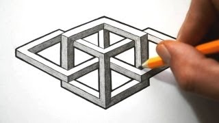 getlinkyoutube.com-How to Draw a Complex Impossible Shape