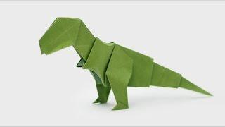 getlinkyoutube.com-ORIGAMI T-REX (Jo Nakashima) - Dinosaur #5