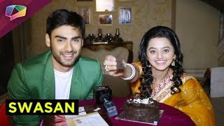 getlinkyoutube.com-SWARA AND SANSKAR cut a cake for a mysterious reason
