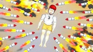 getlinkyoutube.com-1000 ROCKETS vs. DUMMY! (Happy Room)
