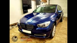 getlinkyoutube.com-BMW 550i GT 3M blue metallic car wrap