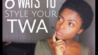 getlinkyoutube.com-6 Cute Ways to Style Your natural  TWA 3c 4a 4b & 4c friendly