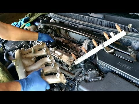 Вольво S80, чистка ВКГ. Volvo PCV.