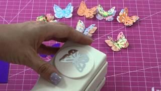 getlinkyoutube.com-El Taller de Verónica: como crear tres mariposas con una sola perforadora!