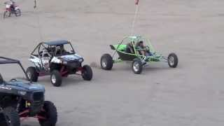 getlinkyoutube.com-Turbo Hayabusa sand rail vs Turbo RZR 900 Packard Performance