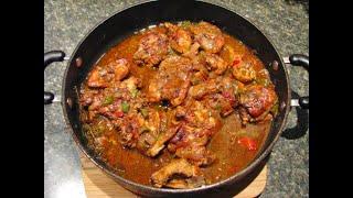Jamaican Brown Stew Chicken Recipe Video