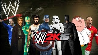 WWE 2K16-Created Superstars 30-Men Royal Rumble