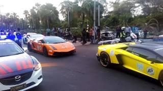 getlinkyoutube.com-Lamborghini Club Indonesia - Bull Run V East Java