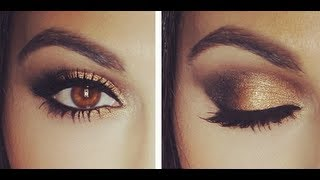 getlinkyoutube.com-Gold Smokey Eye Tutorial | Eye Makeup Tutorial | Teni Panosian