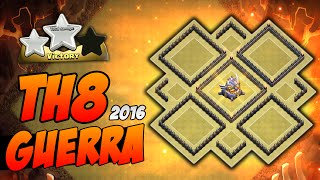 O Mais Top Layout Guerra Cv8 Completo | TH8 War Anti-Gowipe Anti-Hogs | Clash of Clans 2016