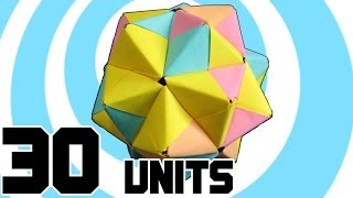 getlinkyoutube.com-Modular Origami Icosahedron 30 Sonobe Units
