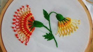 getlinkyoutube.com-Hand Embroidery: Whipped spiderweb stitch