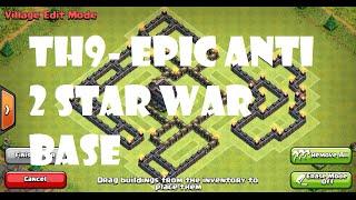 getlinkyoutube.com-Clash of Clans - EPIC TH9 ANTI GOWIPE/WIWI 2/3 STAR WAR/TROPHY BASE *CUSTOM DESIGN*