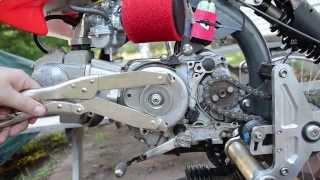 getlinkyoutube.com-Motoped Headlight - CRF50, Ricks Stator, Trail Tech X2 & Regulator