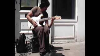 getlinkyoutube.com-Busker with Electric Guitar