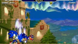 getlinkyoutube.com-Mugen: Sonic MVC vs Sonic (edited)