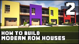 getlinkyoutube.com-Minecraft House - How to Build : Modern Row Houses - Part 2