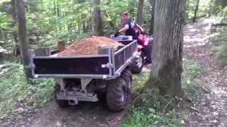 Vahva Jussi 400 earth bucket and trailer 1500 in Sigulda National park