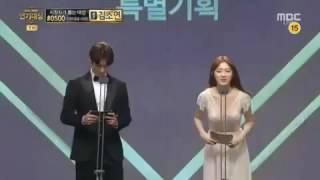 Nam Joo Hyuk - Lee Sung Kyung @ 2016 MBC  Drama Awards Weightlifting Fairy Kim Bok Joo