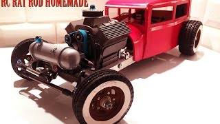 getlinkyoutube.com-RC CAR - RAT ROD RWD HOMEMADE 1/10 [PART 3/5] V8 ENGINE